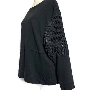 ZARA | black contrast sweatshirt